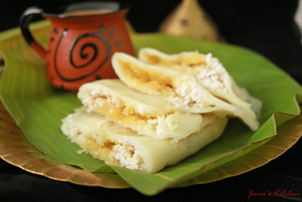 Ela ada ~ Vazhayila ada – Ila ada – Steamed rice parcels with sweet fillings