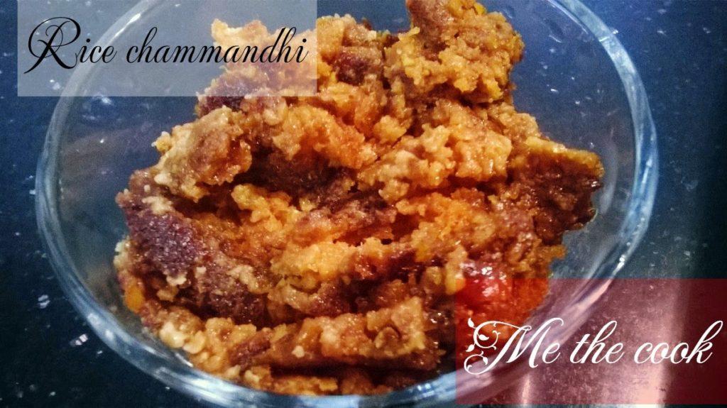 Rice chammandhi