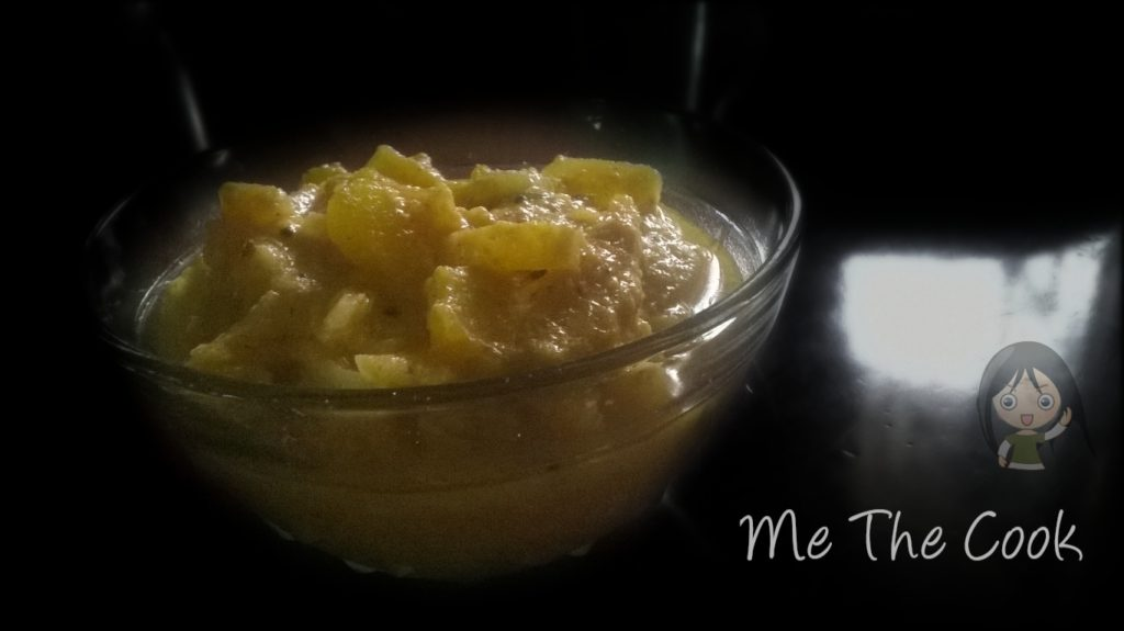Kerala dishes | Thandu mathan pachadi ~ sweet pumpkin and banana stem curry