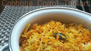 Kerala dishes| Cabbage Carrot Thoran