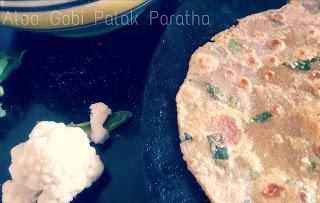 Aloo gobi palak Paratha
