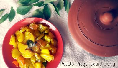 Potato – Ridge gourd Curry