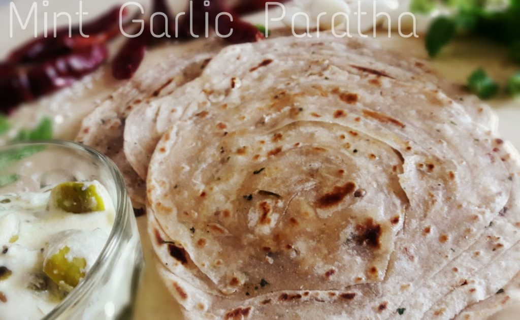 Mint Garlic Paratha