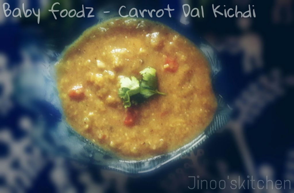 Baby foodz – Carrot Mint kichdi