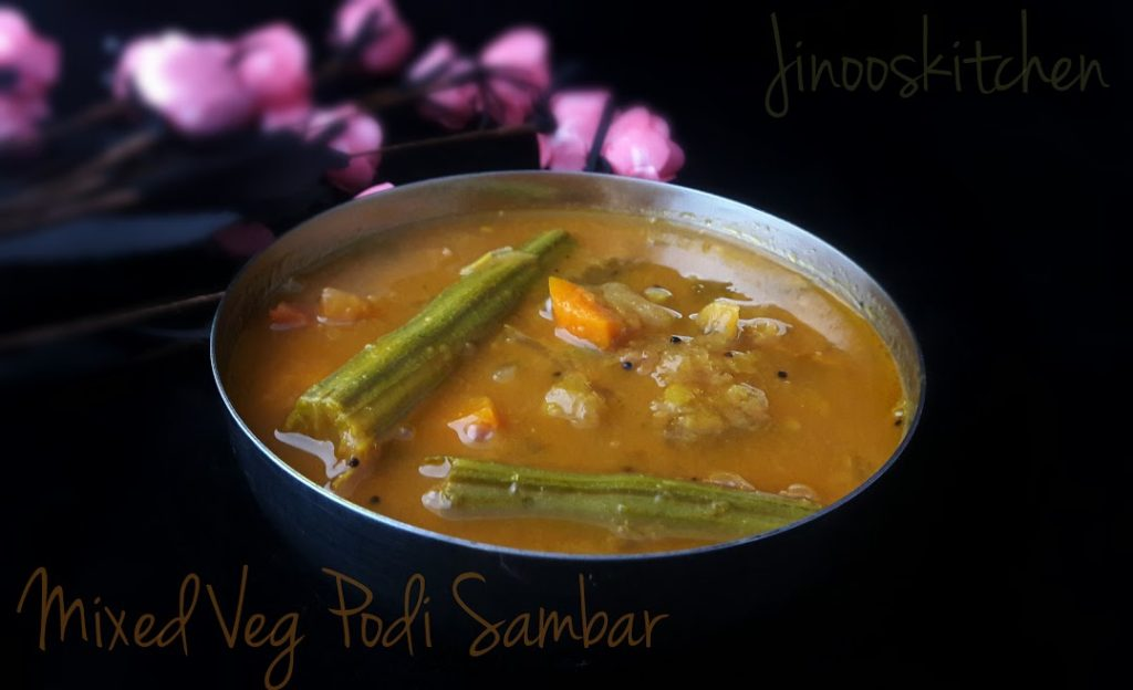 Mixed Vegetable Podi Sambar