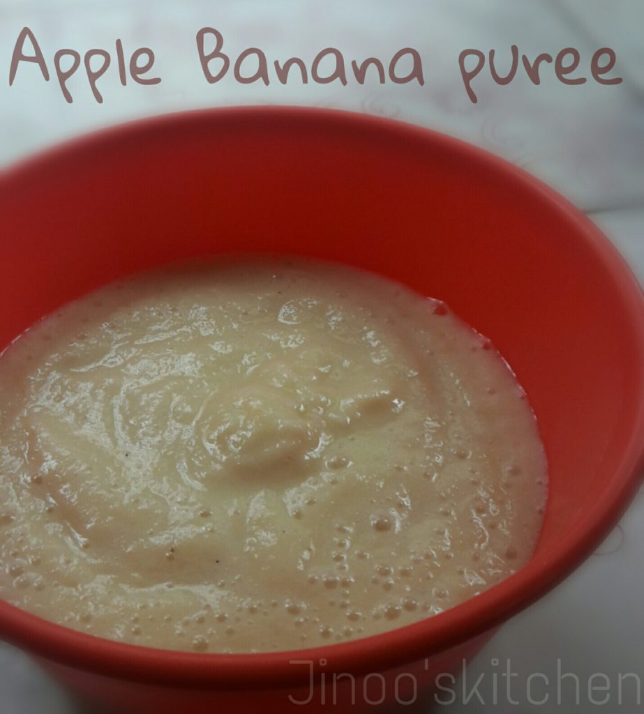 Baby foodz – Apple Banana Puree