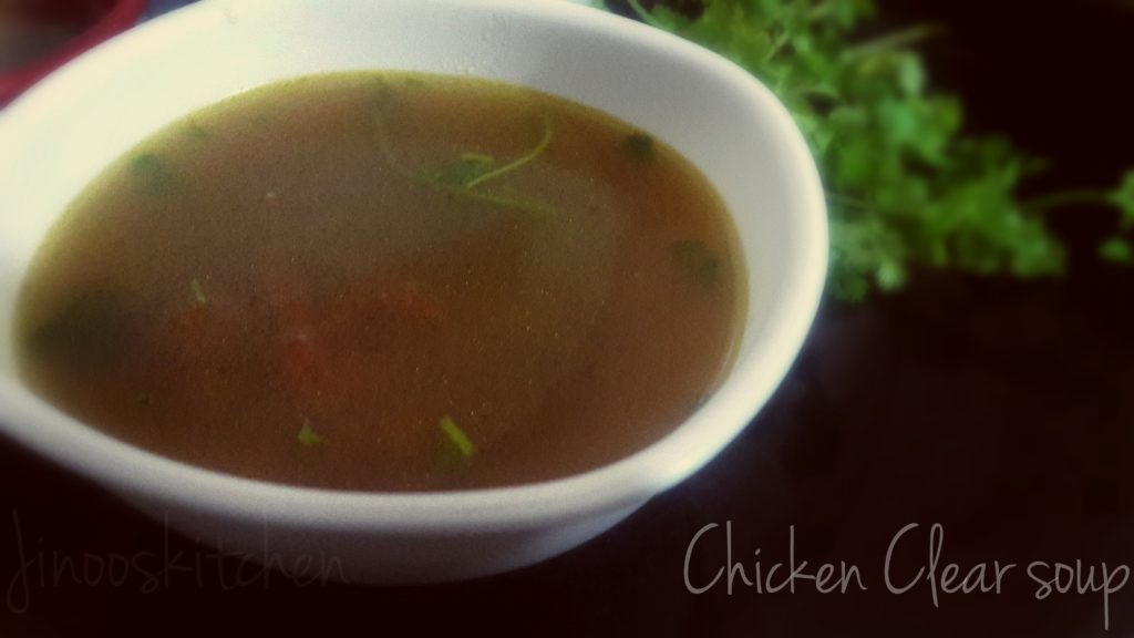 Chicken clear soup ~  Remedy for Cold and cough