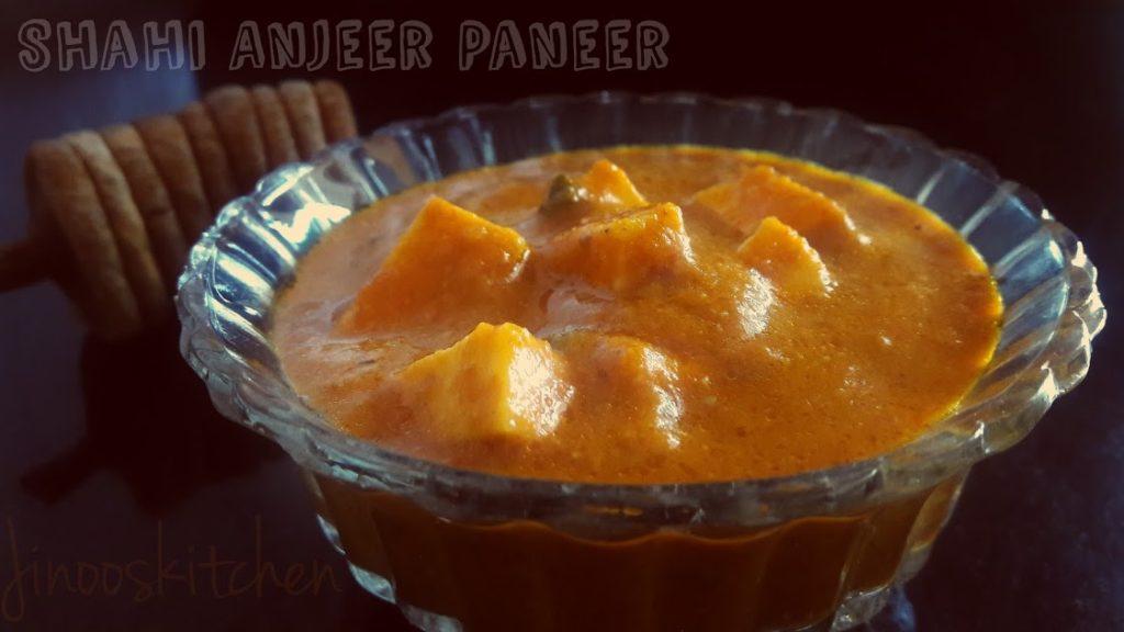 Shahi Anjeer Paneer