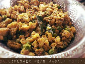 Cauliflower Peas Masala porial