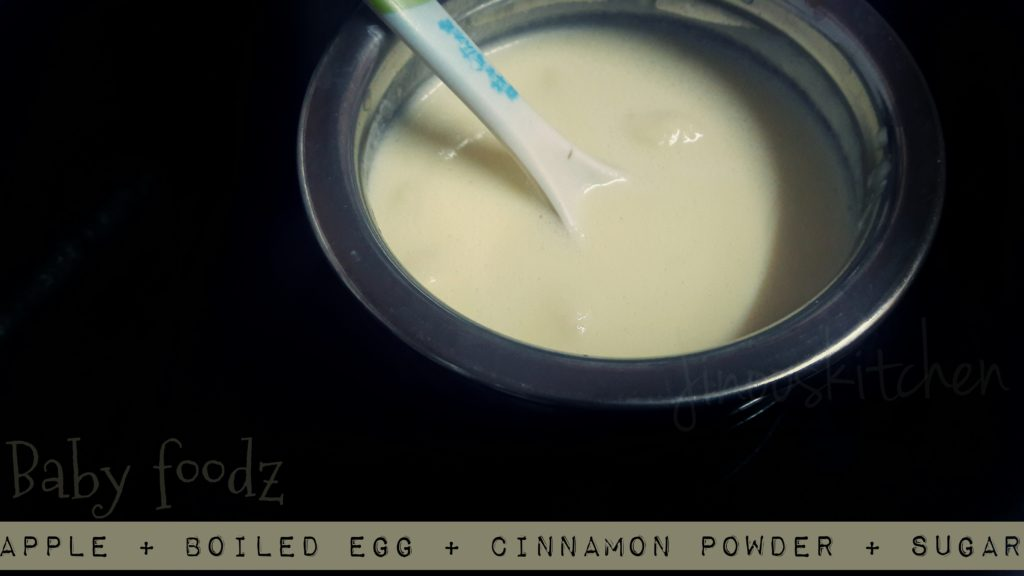 Baby foodz – Apple Egg puree