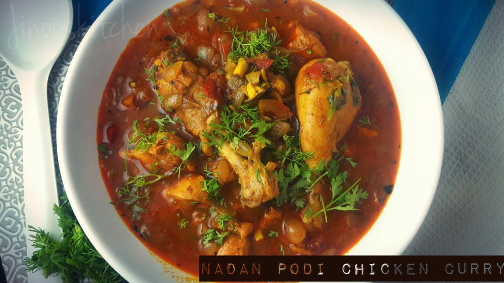 Nadan Podi Chicken curry