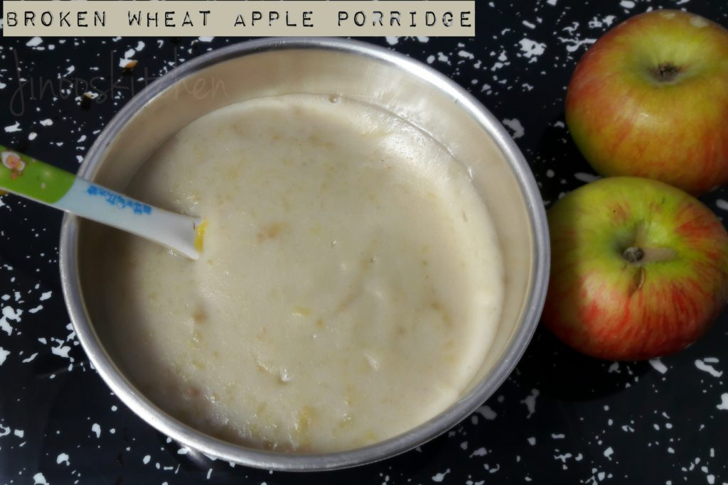 Broken Wheat apple porridge