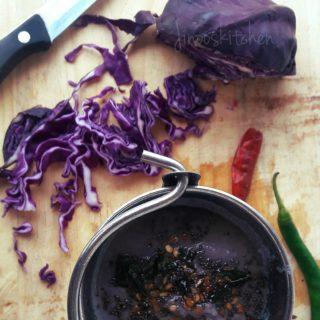 Cabbage flaxseed chutney