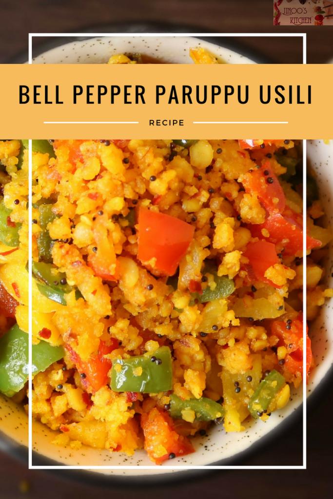 Bell pepper paruppu usili – Capsicum paruppu usili