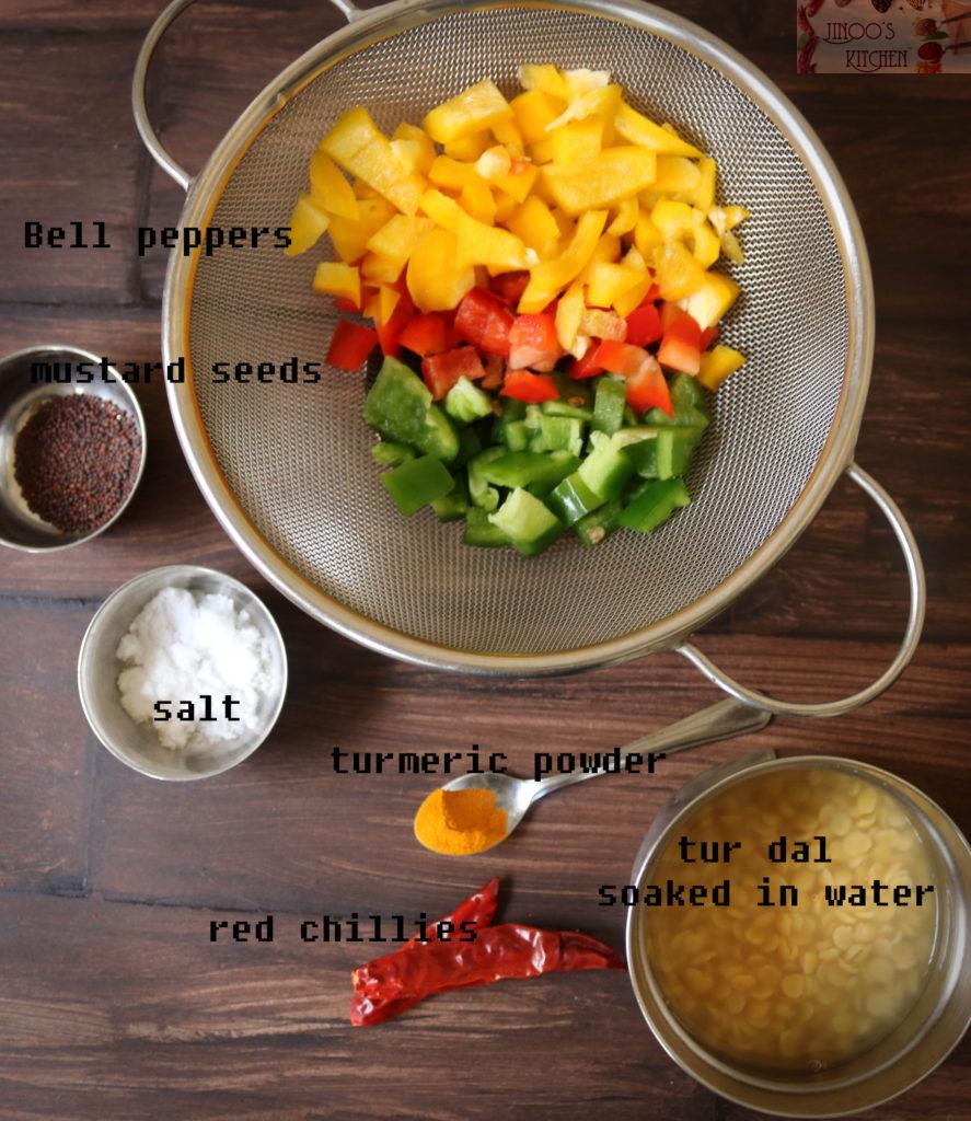Bell pepper paruppu usili - Capsicum paruppu usili