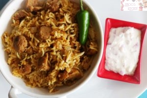 Soya Chunks Biryani-Meal Maker Biryani recipe
