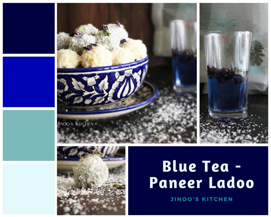 Blue Tea Ladoo -Paneer ladoo recipe