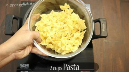 Cheese pasta Indian Style