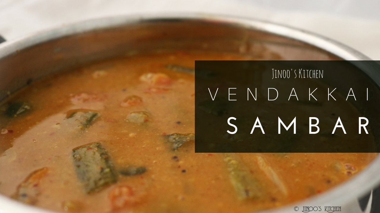 Vendakkai sambar recipe