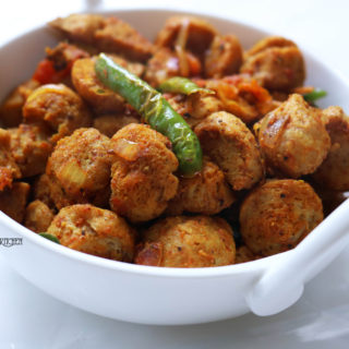 Spicy Soya chunks fry recipe