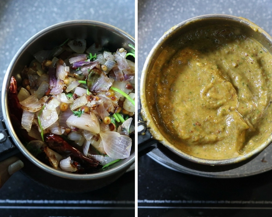 onion coriander chutney recipe