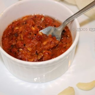 Roasted garlic onion chutney