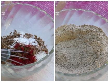 15 minutes red velvet brownie