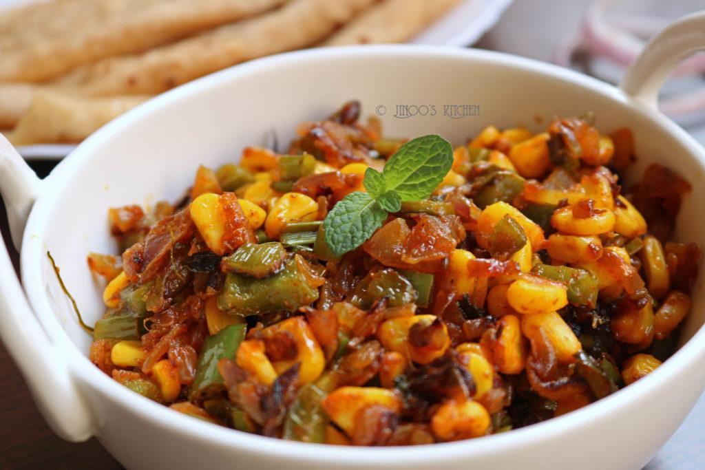 Corn Capsicum sabji   Corn recipes indian