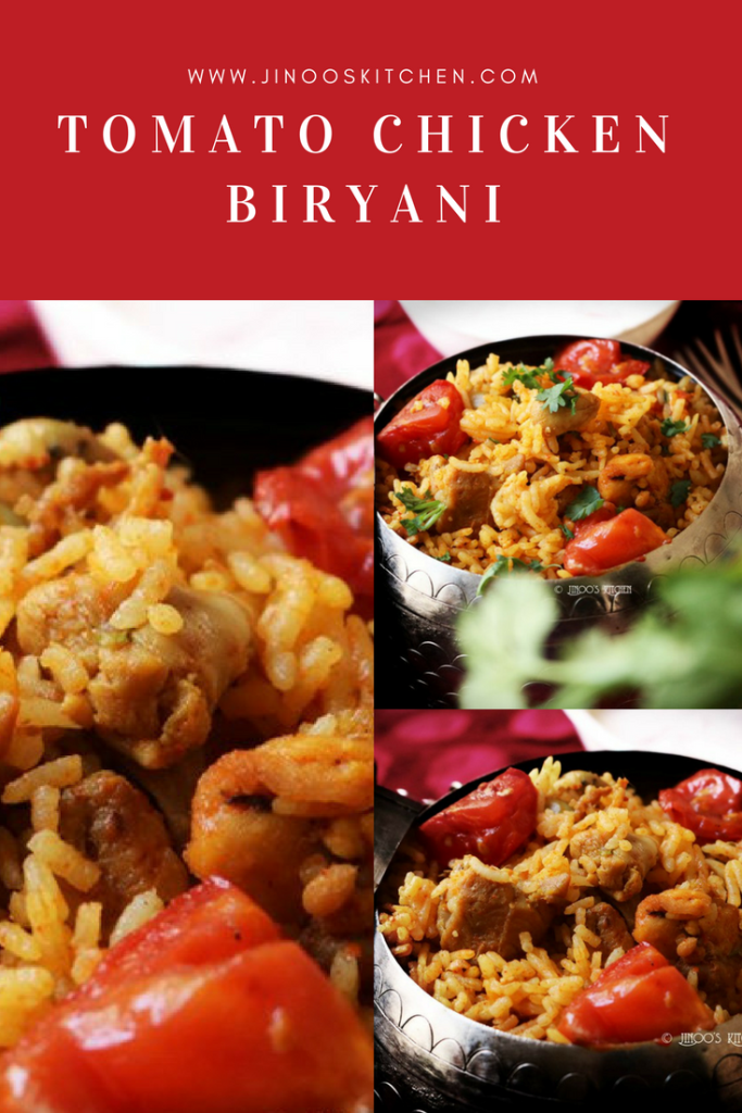 Tomato chicken biryani recipe pin