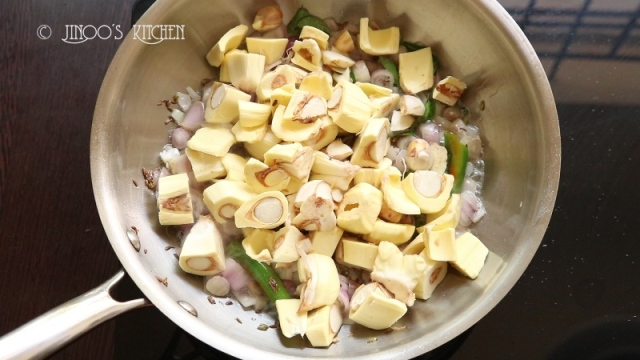 Raw jackfruit fry recipe