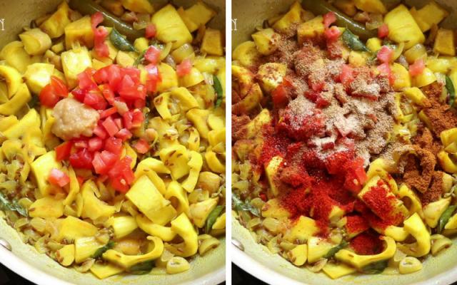 Raw jackfruit fry recipe