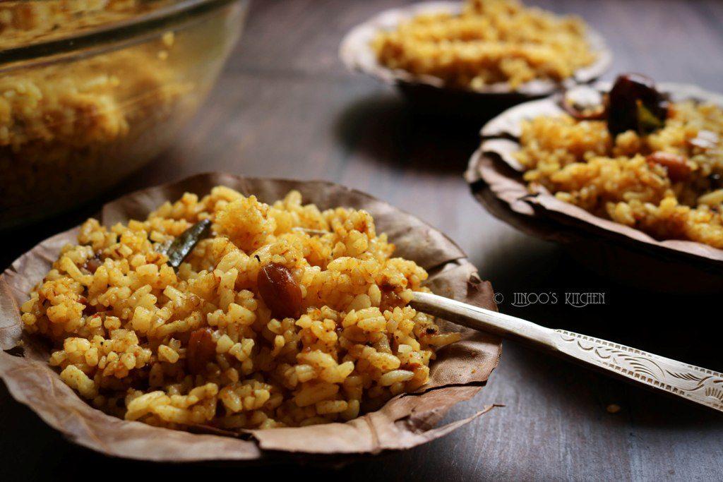 Puliyodharai recipe | tamarind rice | puliyogare recipe | Kovil puliyodharai