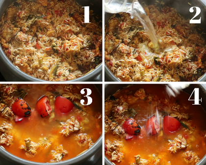 Tomato chicken biryani recipe
