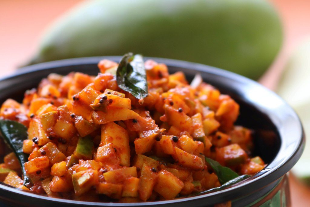 Quick and easy mango pickle recipe