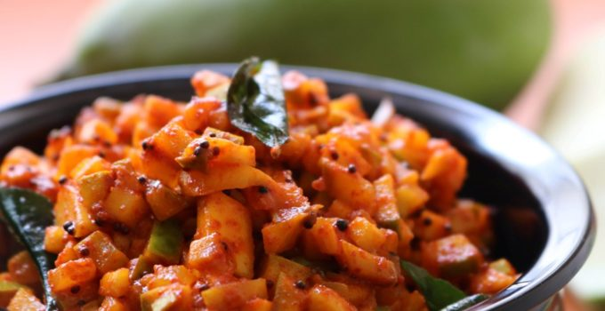 Quick and easy mango pickle recipe | Instant raw mango pickle recipe | Manga achar