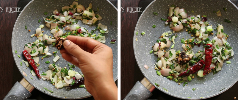 Spring onion chutney recipe