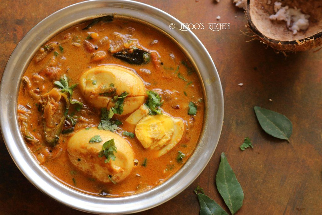 Egg curry recipe Kerala style | Nadan Mutta curry with coconut milk
