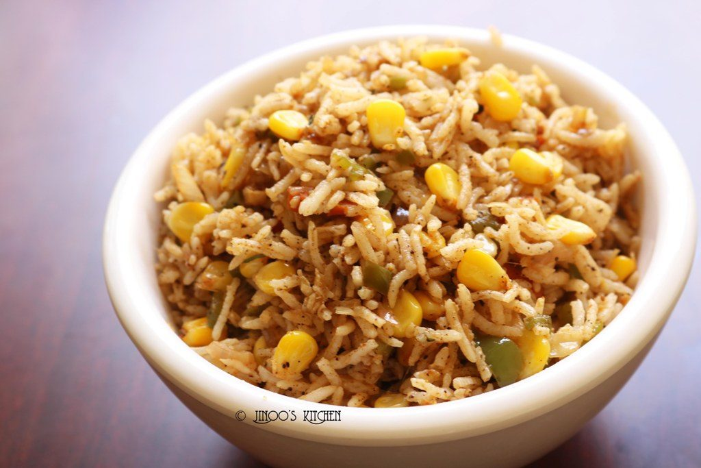 sweet corn pulao recipe