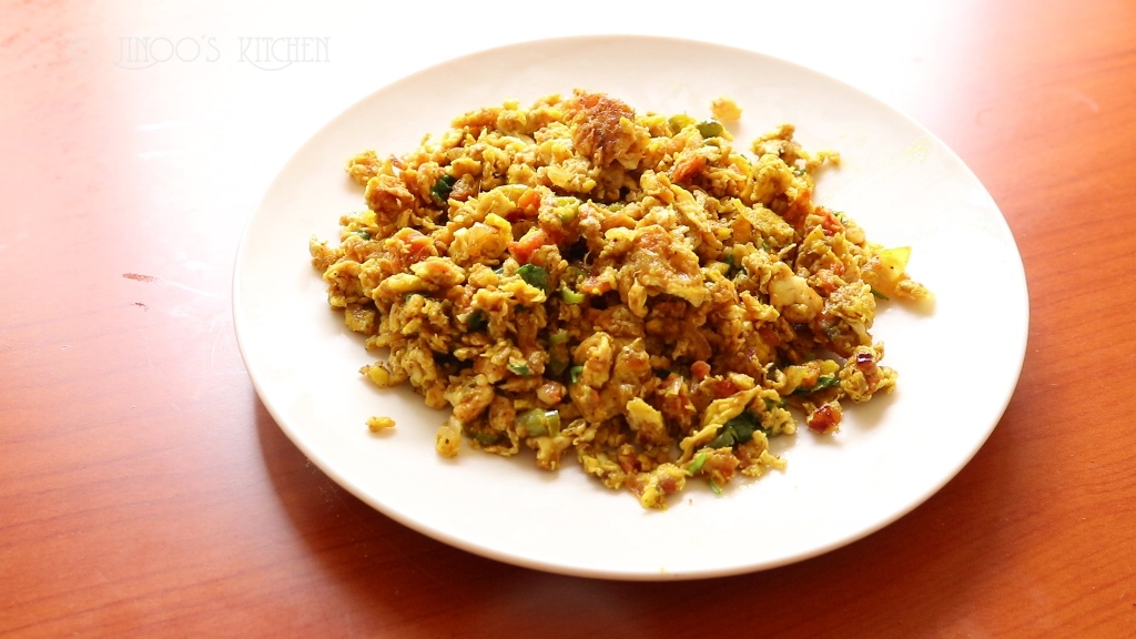 egg recipes - Egg bhurji