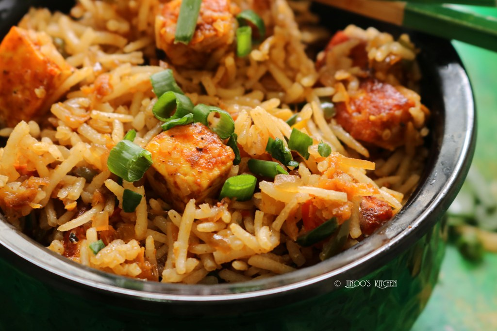 Paneer fried rice recipe