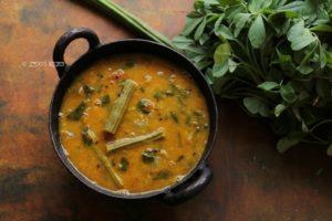 methi sambar recipe
