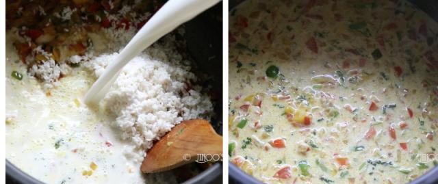 Capsicum coconut milk rice
