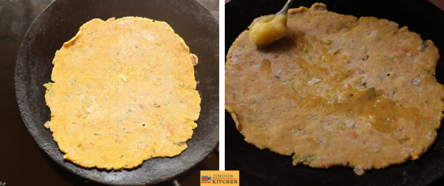 mixed veg paratha recipe