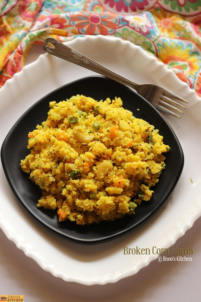 broken corn rava upma recipe