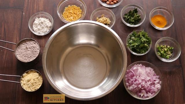 ragi pakoda recipe