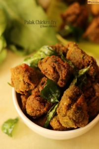 palak chicken fry recipe