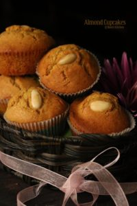 Easy Almond cup cakes recipe