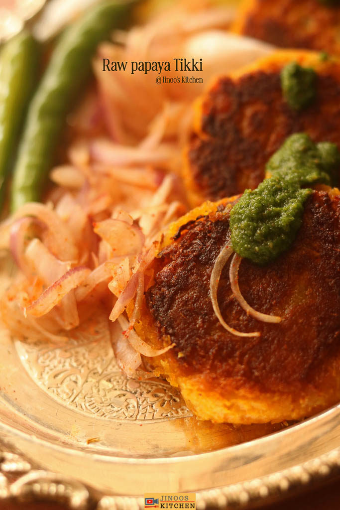 Raw papaya tikki recipe