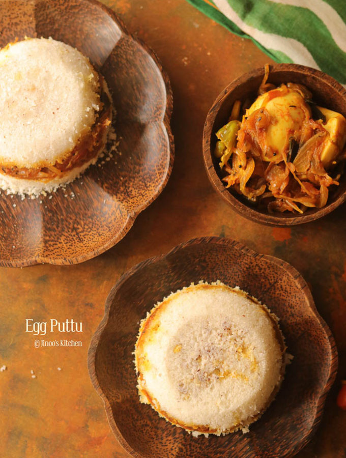 Mutta Puttu recipe | Egg Masala stuffed Puttu