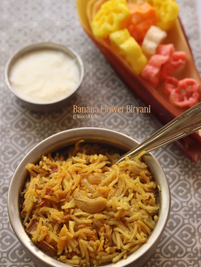 vazhaipoo biryani Banana flower recipes